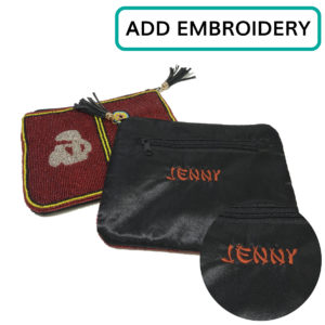 Custom Embroidered Mah Jongg Money Purse