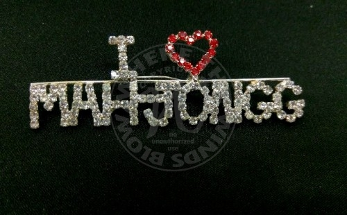 Mah Jongg Bling Pin