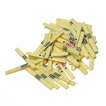 Cream colored mah jongg counting sticks for mahjong