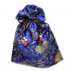 Satin Tile Bag - Blue