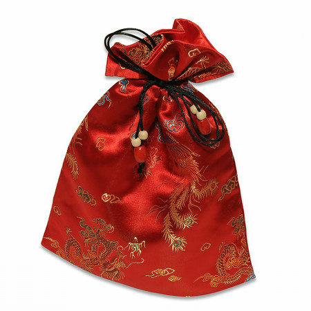 Red Satin Mah Jongg Tile Bag