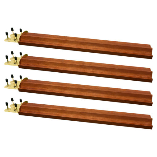 Wood Mah Jongg Racks with Brass Ends