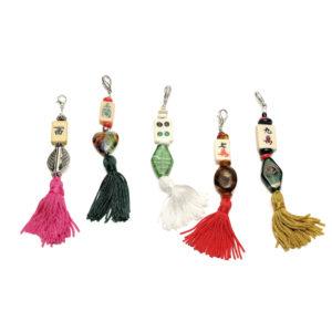 Mah Jongg Tile Zipper Tassels