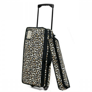 Leopard Mah Jongg Case on Wheels