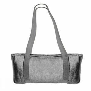 Velour Over the Shoulder Case - Gray for MAh jongg tiles