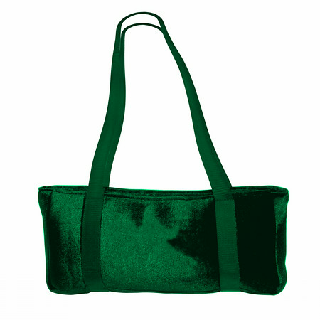 Green Velour Over The Shoulder Mah Jongg Travel Case