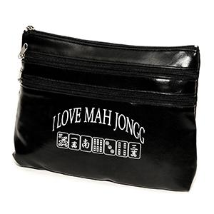 Black I Love Mah Jongg Purse