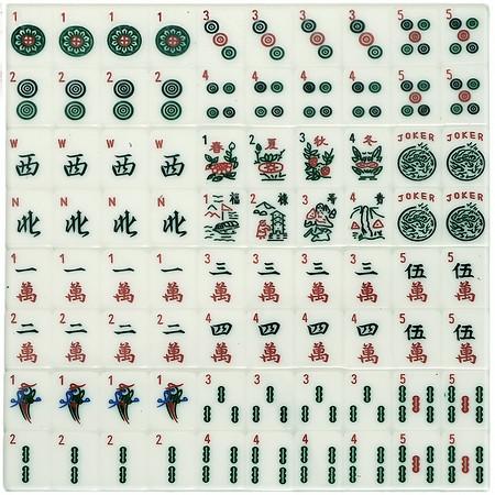 Mah Jongg Tiles Patterned Tile