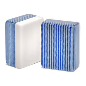 blue striped mah jongg tile