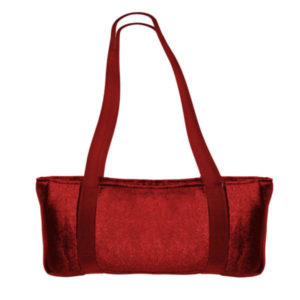 Red Velour Over the Shoulder Mah Jongg Bag