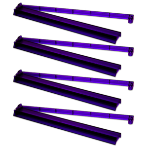 Dark Purple Combo Racks - eggplant color
