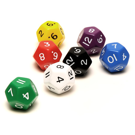 jumbo 12 sided dice assorted colors
