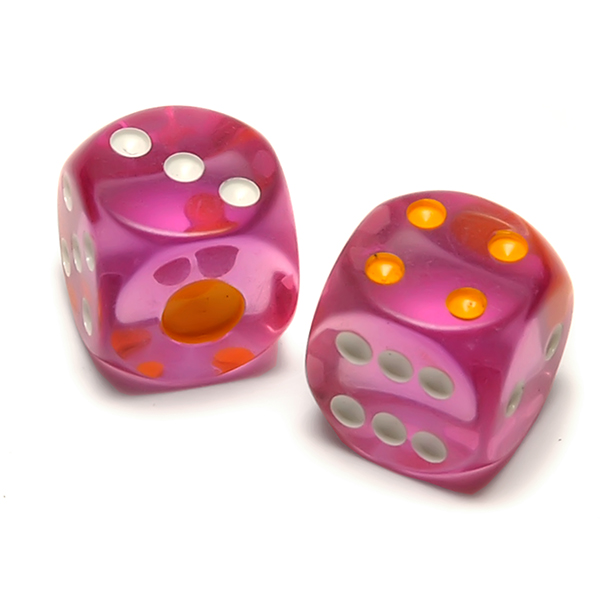 Translucent Pink Playing Dice