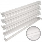 Set of 4 Combo Racks - Clear Silver Glitter