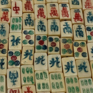 Bone Tile Mah Jongg Beads - Strand of mahjong beads