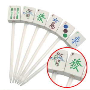 Mah Jongg Tile Fruit Skewers