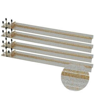 Clear and Gold Glitter Mah Jongg Racks with Brass Ends