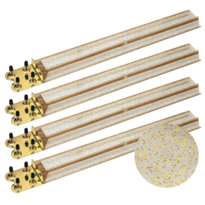 Gold Glitter Mah Jongg Racks with Brass Ends