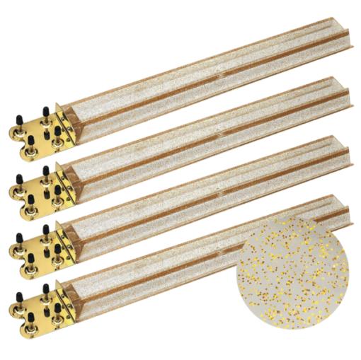 Gold Glitter Mah Jongg Racks with Brass Ends