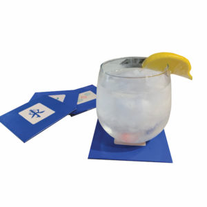Blue Leather Mah Jongg Coasters