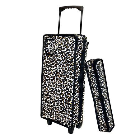 Leopard Mah Jongg Case on Wheels