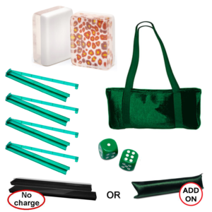 Leopard Print Special Value Set with Green Accessories