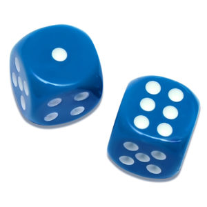 Solid Blue Game Dice Mahjong Dice