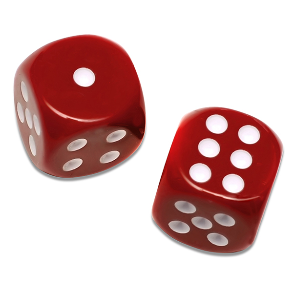 Solid Red Playing Dice