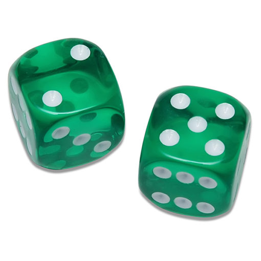 Translucent Green Dice
