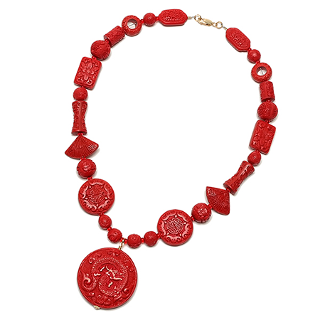ilene sirota solid cinnabar necklace where the winds