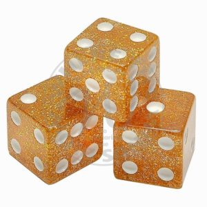 Copper Glitter Dice