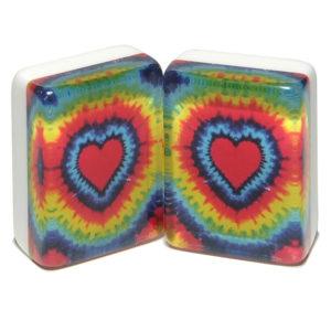 Tie Dye Hearts American Mah Jongg Tiles