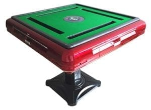 Red Contemporary mahjong table