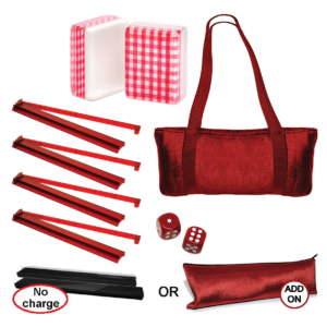 American Mah Jongg Set - Red Checkered