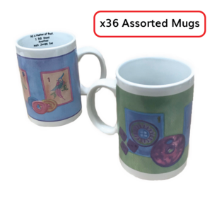 Lot of 36 Assorted Mah Jongg Mugs