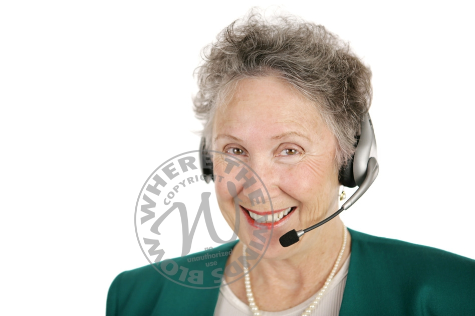 Cheerful Telephone Operator
