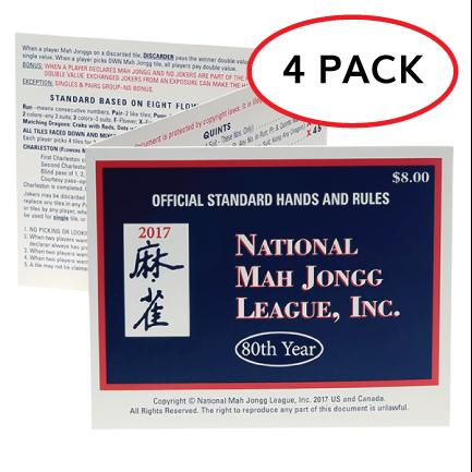 2017 NMJL Card - 4 Pack