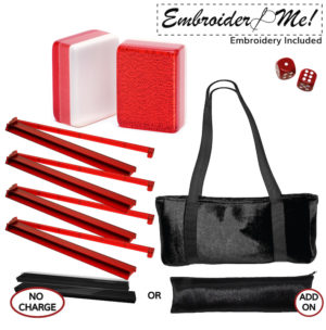 Red Glitter Special Value Set with Red combo racks black velour bag and solid red dice