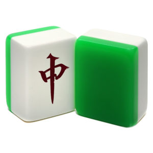 Green and White Jumbo Mah Jongg Tiles