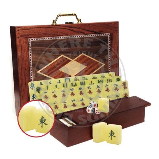 Mah Jongg Set in Wood Box Asian Mah Jongg Tiles