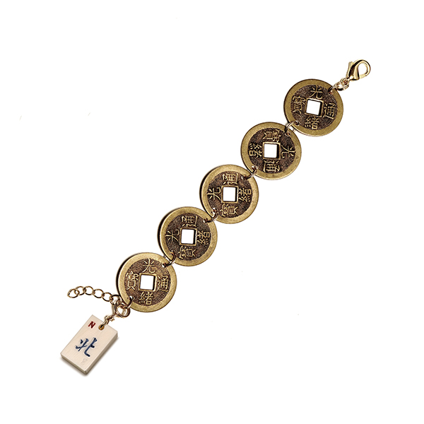 Ileen Sirota Coin Bracelet with Tile Charm