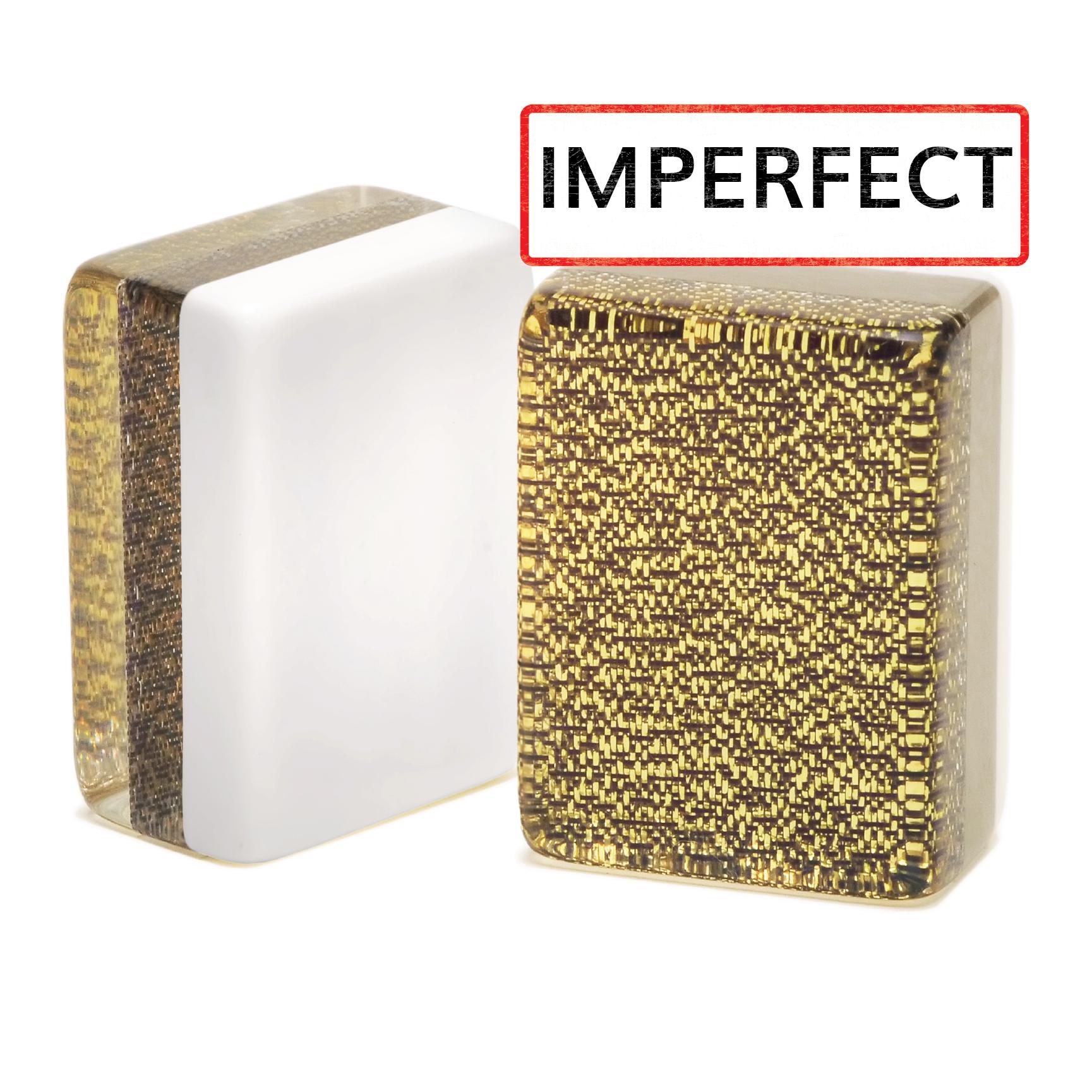 Imperfect Black and Gold Glitter Mah Jongg Tiles