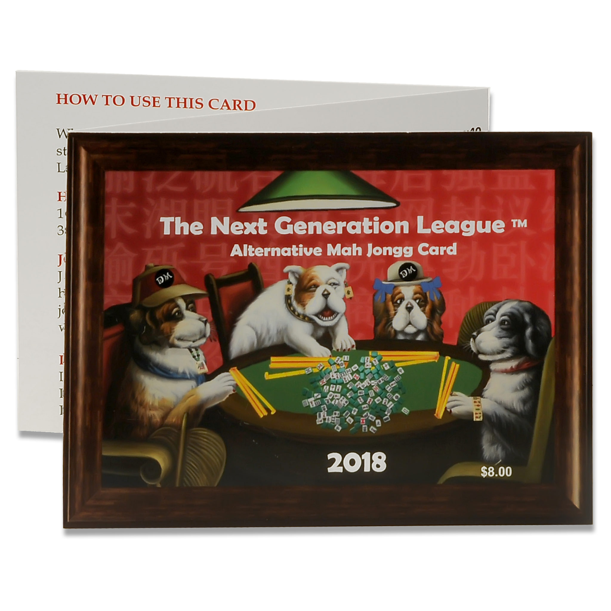 2018 Next Generation Card by Destination Mah Jongg