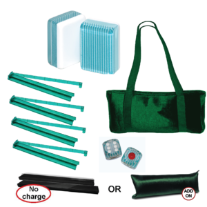 American Mah Jongg Set Turquoise Stripe
