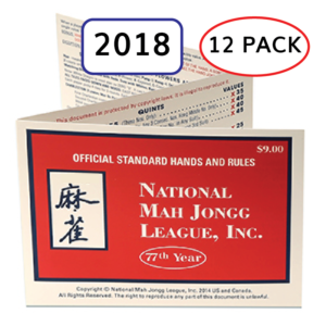 12 pack 2018 National Mah Jongg League Card