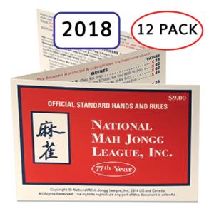 12 pack 2018 National Mah Jongg League Card