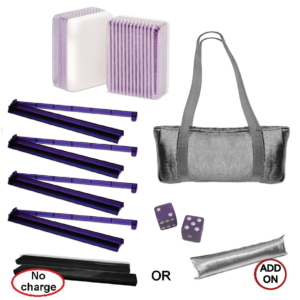 American Mah Jongg Set - Purple Stripe