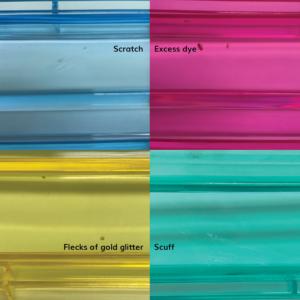 Imperfect clear jeweled racks