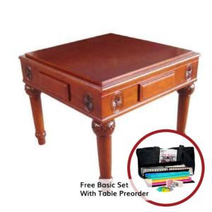 Wood Automatic Mah Jongg Table
