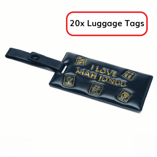 Lot of 20 Mah Jongg Luggage Tags - Great Door Prizes!
